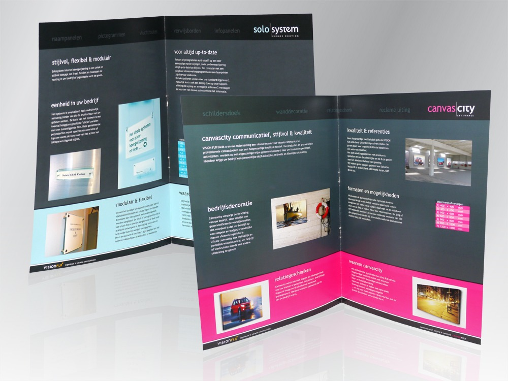 Bedrijfspromotie-folders