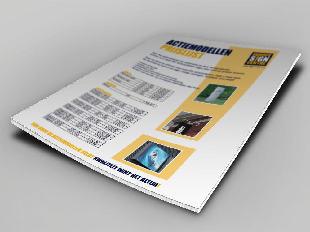 prijslijst-flyer