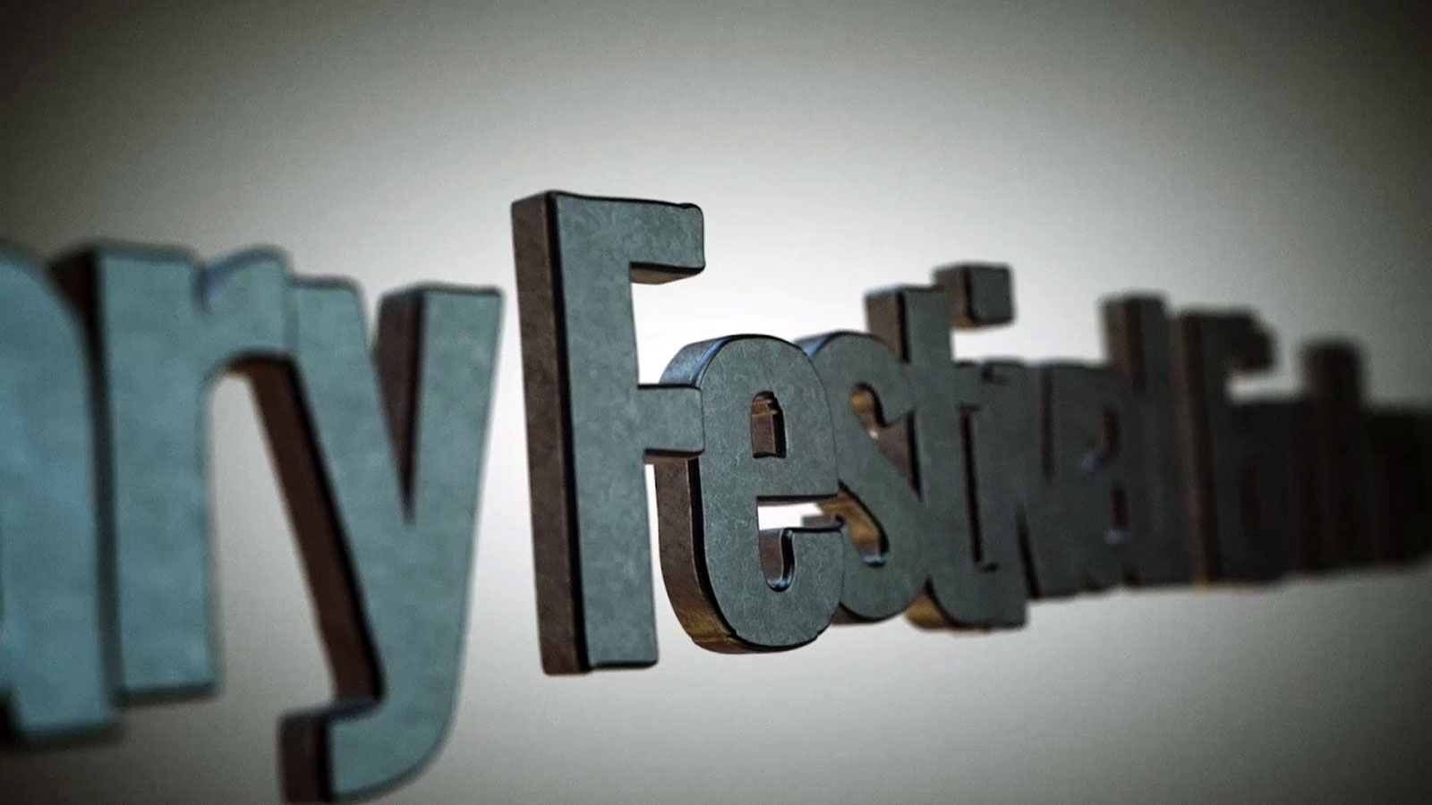 festival 3d logo animatie