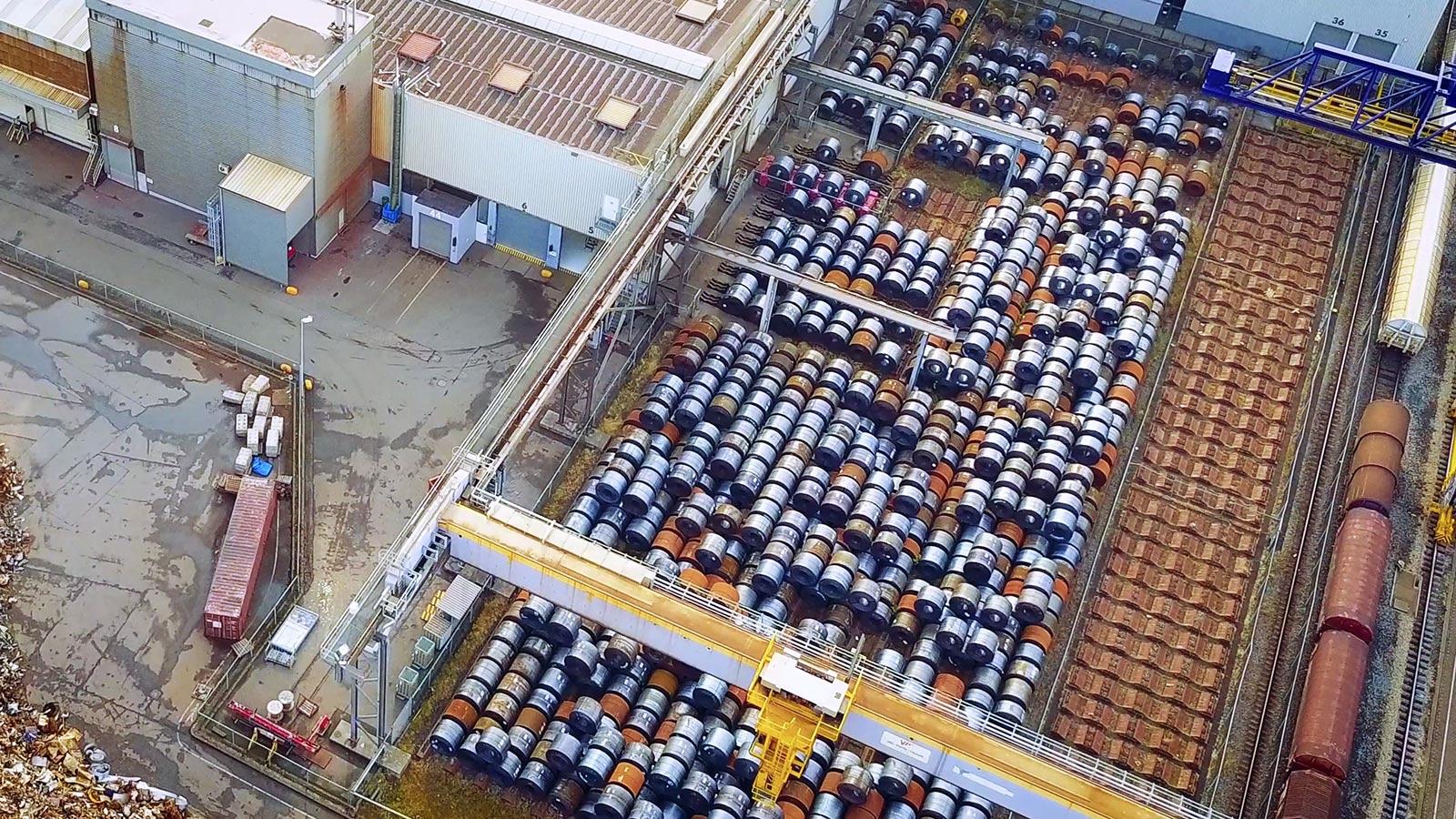 Drone videoproductie laten maken staal bouw industrie productfilm productie