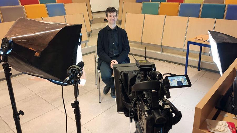 Erasmus-universiteit-teleprompter-opnames